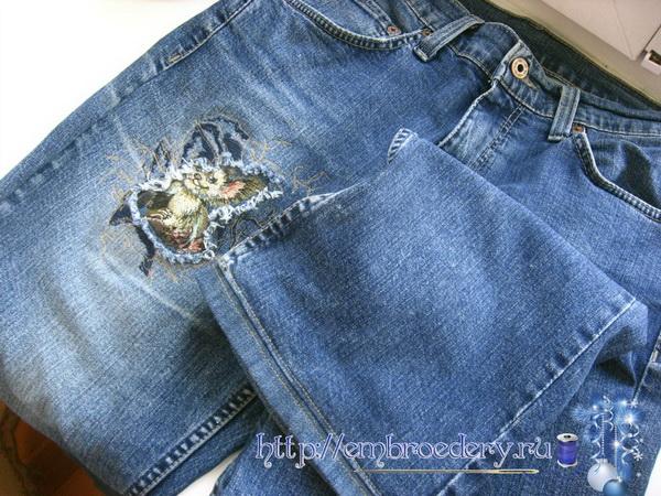 Вышивка джинсы креатив 78