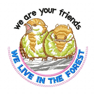 Birds free embroidery design