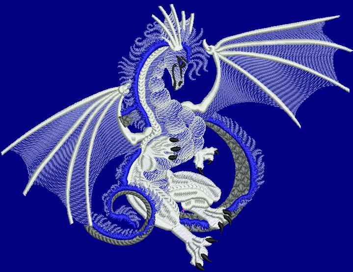 Blue Dragon free embroidery design
