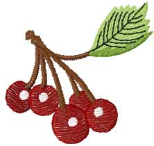 Cherry free embroidery design 3