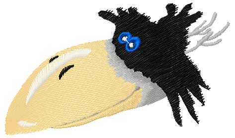Crow free embroidery design 2