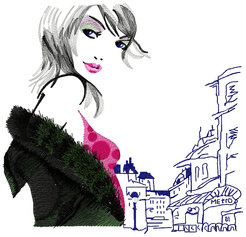 Woman, spring..Paris..