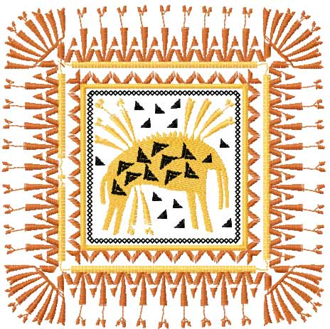 African decoration free embroidery design