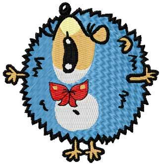 Small hedgehog free embroidery design