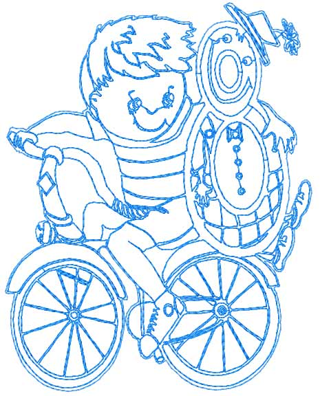 My favorite bike free embroidery design