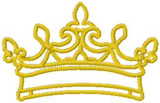 Crown free embroidery design 4