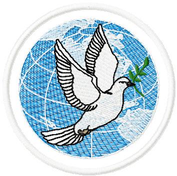 Dove free embroidery design 5