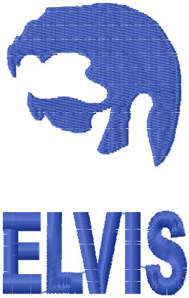 Elvis Presley free embroidery design 3