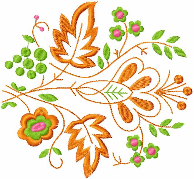 Decoration free embroidery design 30