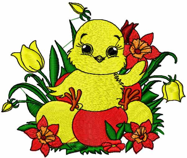 Happy Easter free embroidery design