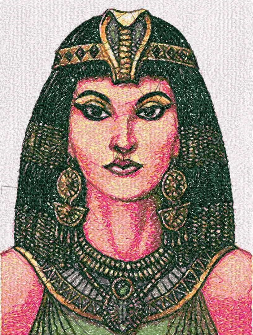 Cleopatra photo stitch free embroidery