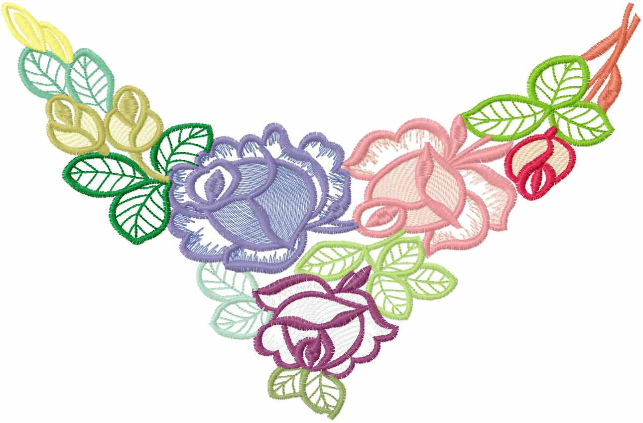 Flower decoration free embroidery 59