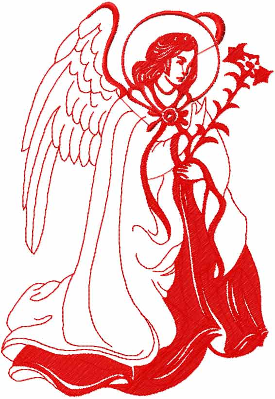 Angel free embroidery design 2