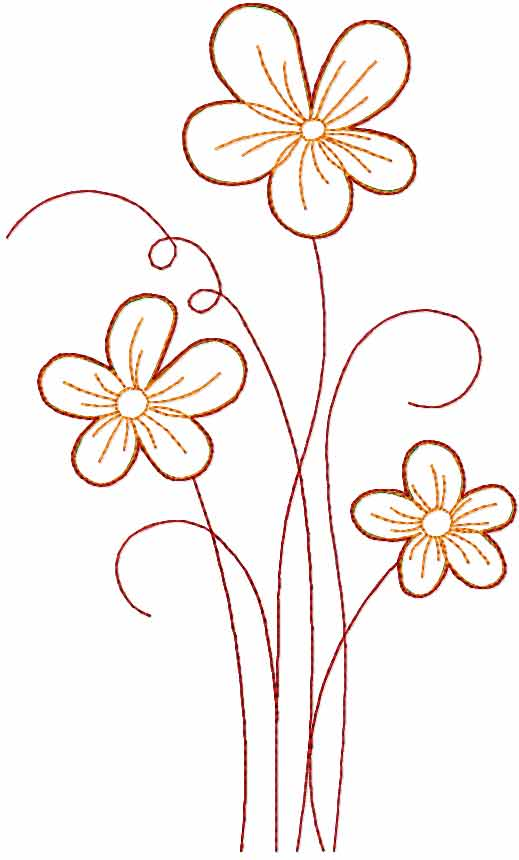 Flowers free embroidery design 56