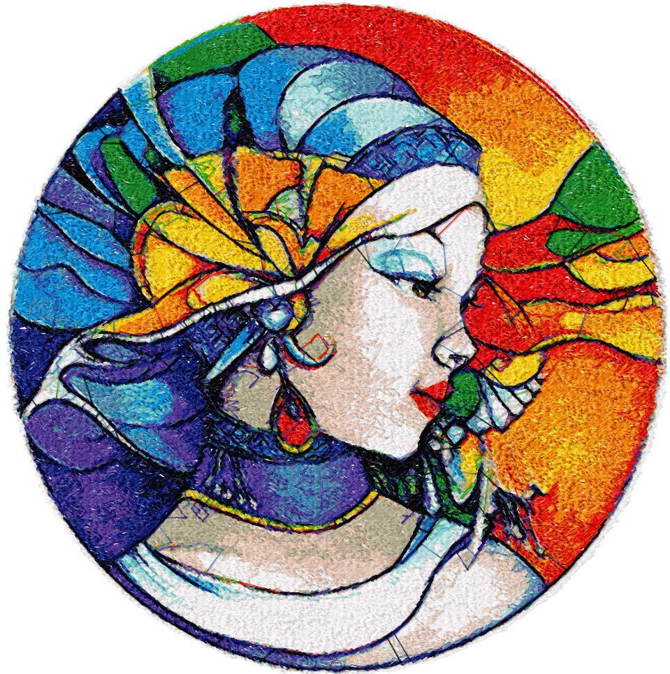 Nabira photo stitch free embroidery design