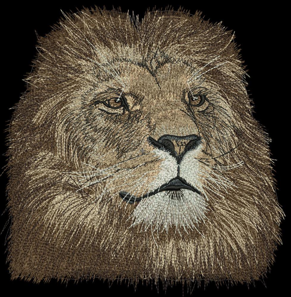 Lion muzzle free embroidery design