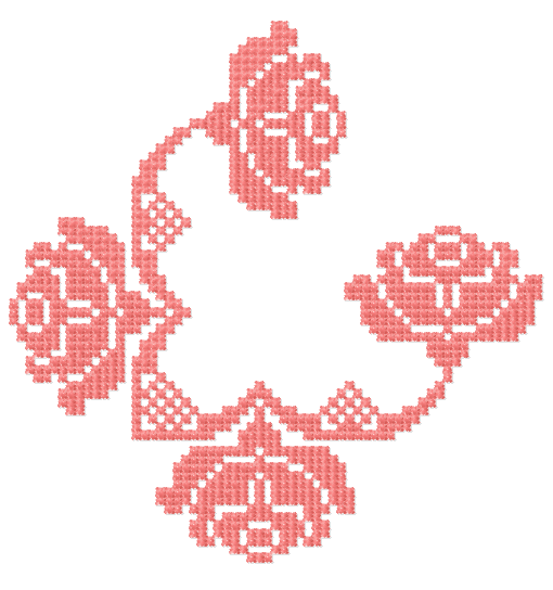 Rose decoration free embroidery design 15