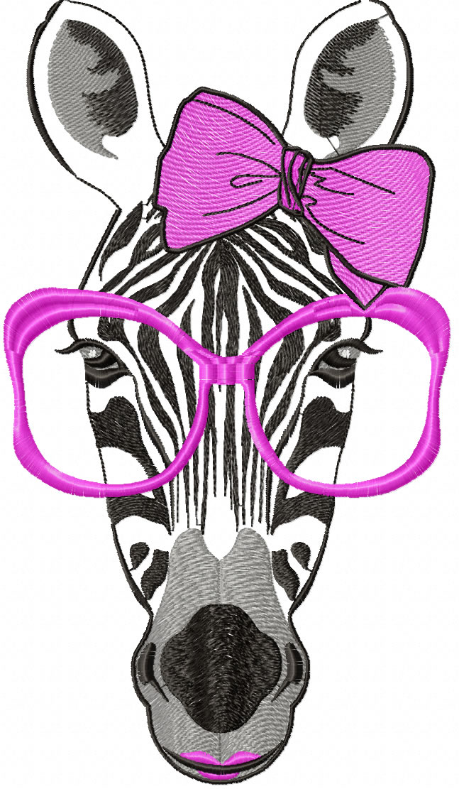 Zebra free embroidery design