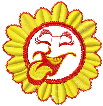 Happy Sun free embroidery design