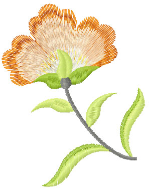 Simple flower free embroidery design 2