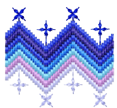 Blue border free embroidery design 15