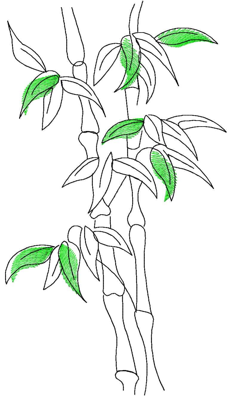 Bamboo free embroidery design