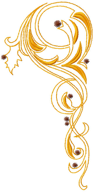 Swirl decoration free embroidery design