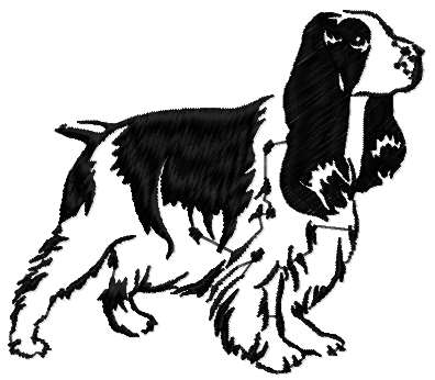 Spaniel free embroidery design