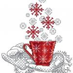A cup full of christmas wishes cross stitch free embroidery design