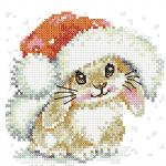 Christmas bunny cross stitch free embroidery design