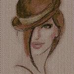 Style woman free embroidery design