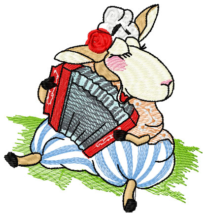 Sheep and music free embroidery design
