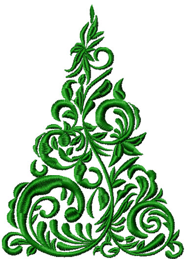 Сhristmas tree free embroidery design