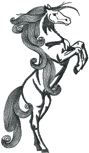 Black horse free embroidery design