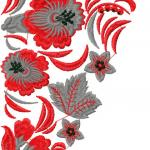 Flower decoration free embroidery 52