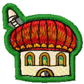 Small cute house free embroidery design 6