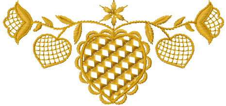 Gold nut decoration free embroidery design