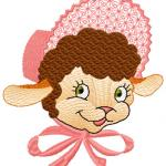 Happy Lamb free embroidery design 2