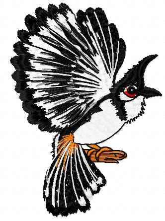 Bird free embroidery design