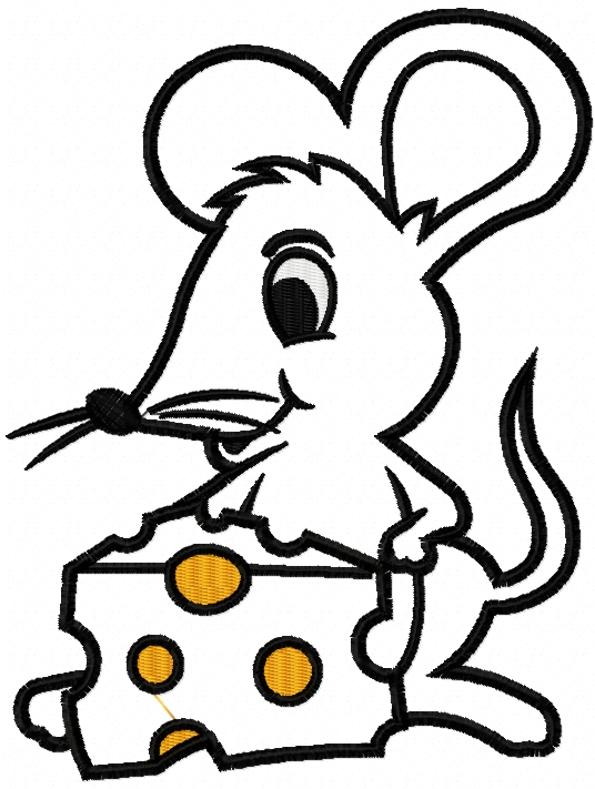 Mouse And Cheese Applique Free Embroidery Design Free Embroidery