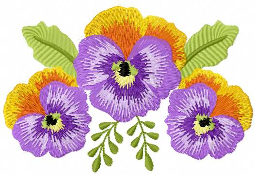 Violet Flower Free Embroidery Design Flowers Machine Embroidery