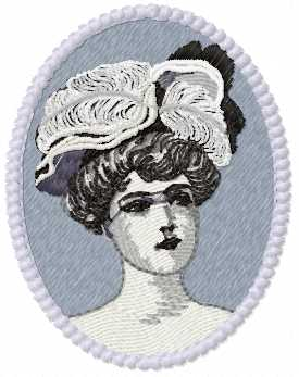 Woman's portrait free embroidery design