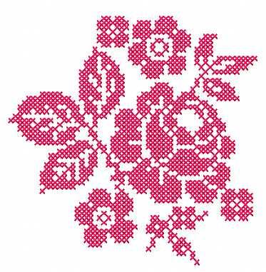 Rose Cross Stitch Free Embroidery Design 9 Cross Stitch Machine