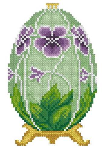 Faberge Egg Cross Stitch Free Embroidery Design Easter Machine