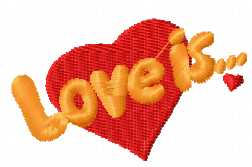 Love is free embroidery design