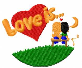 Love is free embroidery design 2
