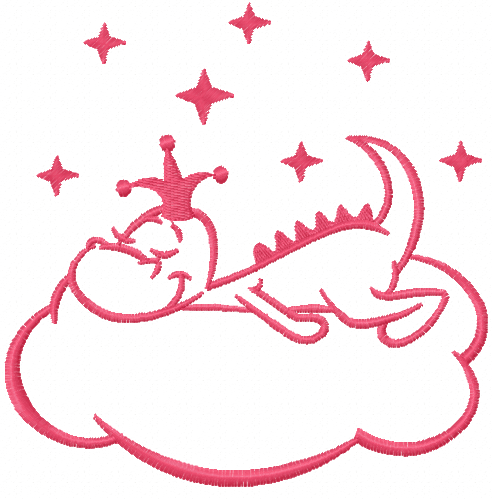 Sleeping Dragon King Free Embroidery Design Free Embroidery