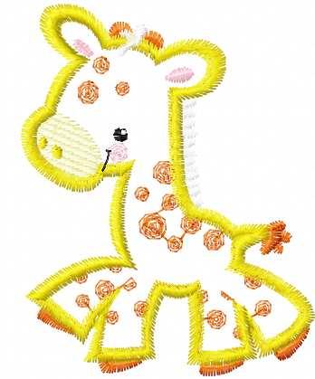 Giraffe Applique Free Embroidery Design 4 Applique Machine