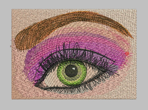 Green eyes free embroidery design