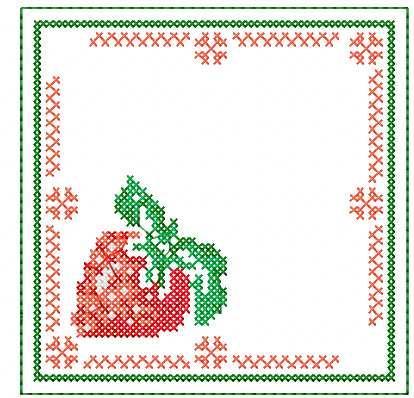 Strawberry Cross Stitch Free Embroidery Design Cross Stitch